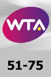 WTA 51-75 Tennis